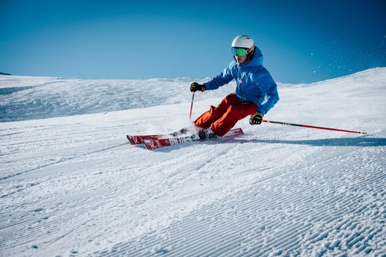Skiing on Christmas Day